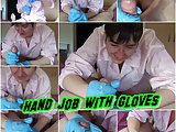 Hand job with Gloves