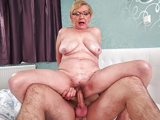 Hairy Grannies Granny video: Fat hairy granny and her younger lover
