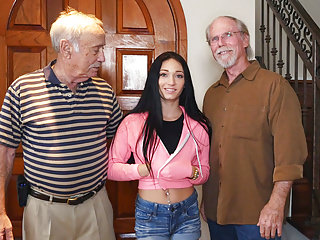 Teens Oldyoung Big Boobs video: Crystal Rae Painfully Fucked By Grandpa