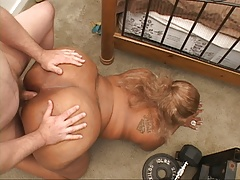 Big Butt Ebony MILF Gets Ass Fucked Hard