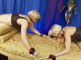 Wapxtube.com Lesbian chics in bondage try as much as they can to rub themselves to orgasm