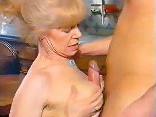 Matures German porno: Blonde Grandma Gets Pounded On The Table