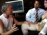 Wapxtube.com Naughty nurse is the hospital whore fucking two doctors at the same time