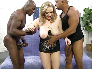 Interracial Double Penetration Big Cock video: Painful BBC Anal And DP With Vicky Vixen