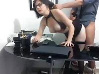 juicy secretary fucked in office