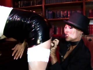 Radny bitch shoves a stick in policewoman's asshole