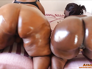 Milfs Bbw African video: Lewd Afro-mama's