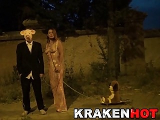 Amateur Public Nudity Redheads video: Krakenhot - Redhead Milfwith a masked man outdoor nudity