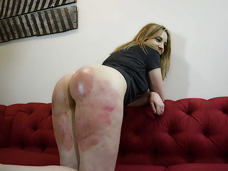 Oldyoung Babes Bdsm video: Welted by the Strap - (Spanking)