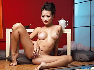 Busty Geisha wants you destroying her back door with your cum bazooka