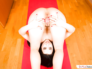 This lassie is so flexible she could be a member of Cirque du Soleil!