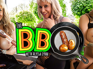 Big-boobed milk mother wants to taste your cheese-filled sausage at the BBQ