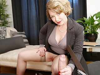 Foxy mature psychiatrist delivers the ultimate therapy by stroking your giggle stick