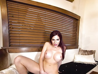 Big-chested hussy demolishes her underground base with her rocket fingers