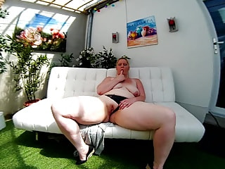 Kinky fatty thinks about your giggle stick while servicing her cock socket