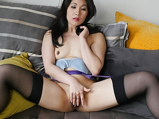 Lingerie Looks Perfect on a VR Solo Asian Beauty
