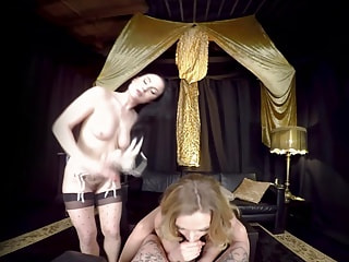 Strapon Cock Makes a Lesbian Threesome Hotter