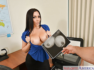Fucking Your Slutty Big Tits Employee on Her Desk
