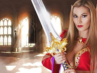 Blood Elf Seductress Milks Cock with Her Pussy
