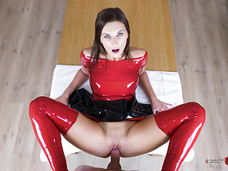 Slave in Latex Takes a Rough Hardcore Fucking